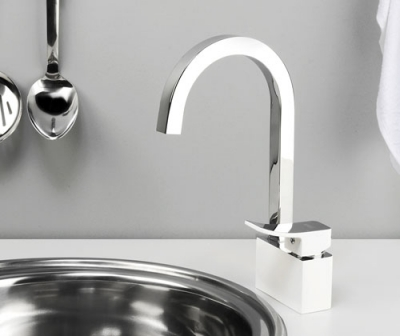 Смеситель для кухни с поворотным изливом WasserKRAFT Aller 1067WHITE
