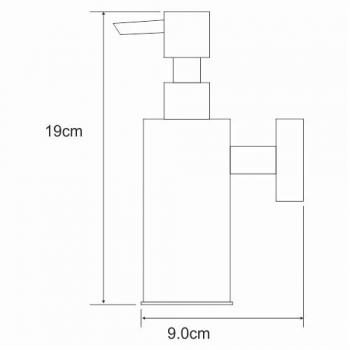 Антивандальный дозатор для жидкого мыла в черном цвете K-1399BLACK