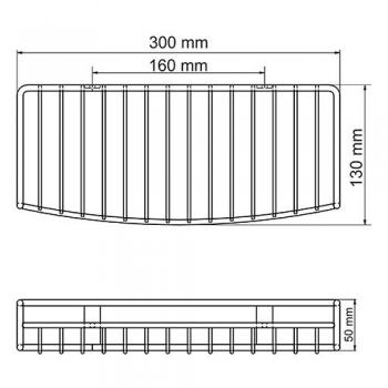Полка металлическая прямая WasserKRAFT K-1611