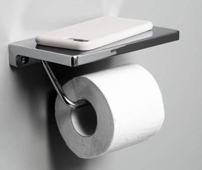 Держатель туалетной бумаги с полочкой для телефона WasserKRAFT K-1425