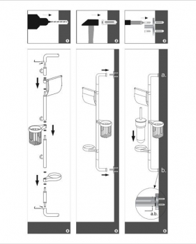 Комбинированная настенная стойка WasserKRAFT K-1458
