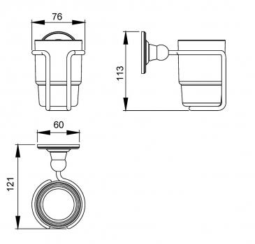 Стакан для зубных щеток Timo Nelson 160031/02 antique