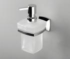 Дозатор для жидкого мыла стеклянный, 230 ml WasserKRAFT Wern К-2599
