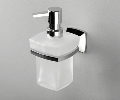 Дозатор для жидкого мыла стеклянный, 230 ml WasserKRAFT Wern K-2599