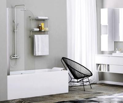 Стеклянная шторка на ванну WasserKRAFT Leine 35P01-80 (800х1400 мм)