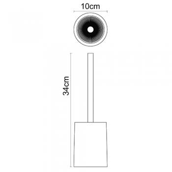 Щетка для унитаза WasserKRAFT Ohre K-37727