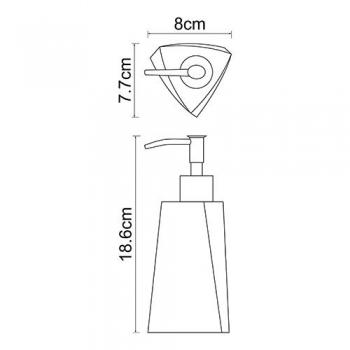 Дозатор для жидкого мыла, 200 ml WasserKRAFT Ohre K-37799