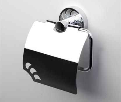 Держатель туалетной бумаги с крышкой WasserKRAFT Isen K-4025