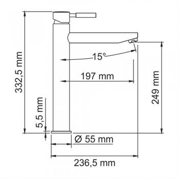 Смеситель для умывальника WasserKRAFT Main 4103H