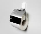 Держатель туалетной бумаги с крышкой WasserKRAFT Leine К-5025WHITE