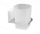 Стакан для зубных щеток стеклянный WasserKRAFT Leine К-5028WHITE