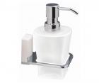 Дозатор для жидкого мыла стеклянный, 300 ml WasserKRAFT Leine К-5099WHITE