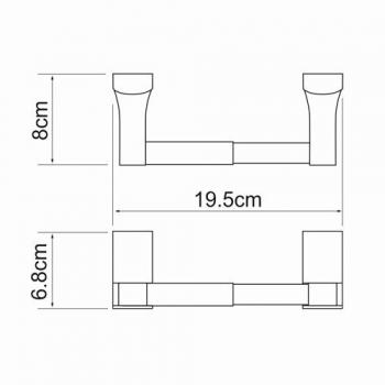 Держатель туалетной бумаги WasserKRAFT Exter K-5222