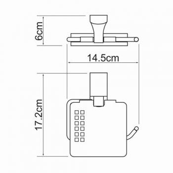 Держатель туалетной бумаги с крышкой WasserKRAFT Exter K-522525
