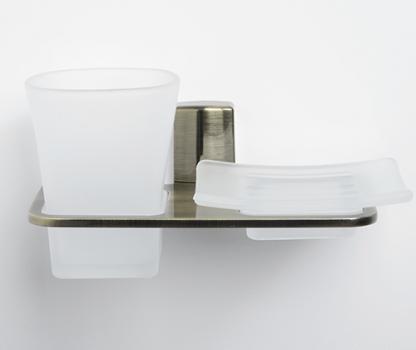 Держатель стакана и мыльницы WasserKRAFT Exter K-5226