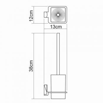 Щетка для унитаза подвесная WasserKRAFT Exter K-5227