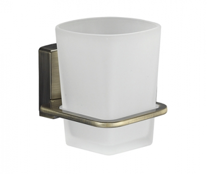 Стакан для зубных щеток стеклянный WasserKRAFT Exter K-5228