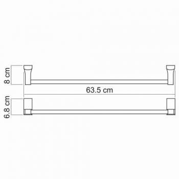 Штанга для полотенец WasserKRAFT Exter K-5230