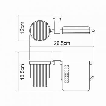 Держатель туалетной бумаги и освежителя WasserKRAFT Exter K-5259