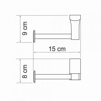 Держатель туалетной бумаги WasserKRAFT Exter K-5296