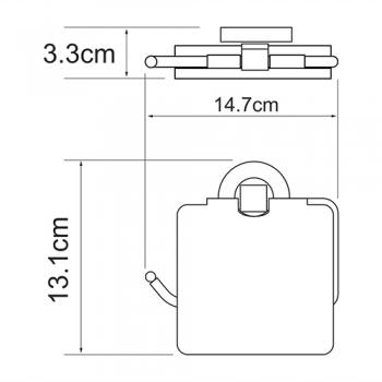 Держатель туалетной бумаги с крышкой WasserKRAFT Rhein K-6225
