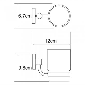 Подстаканник стеклянный WasserKRAFT Rhein K-6228