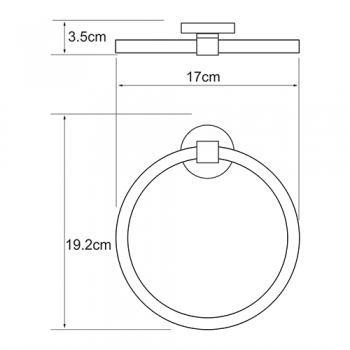 Держатель полотенец кольцо WasserKRAFT Rhein K-6260