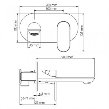 Встраиваемый смеситель для раковины WasserKRAFT Elbe 7430