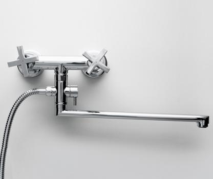 Смеситель для ванны с длинным изливом WasserKRAFT Weser 7802L