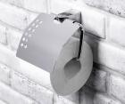 Держатель туалетной бумаги с крышкой WasserKRAFT Kammel К-8325