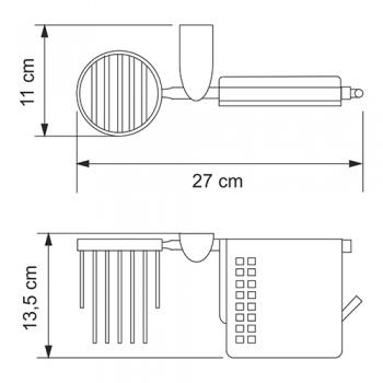 Держатель туалетной бумаги и освежителя WasserKRAFT Kammel K-8359