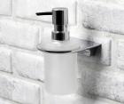 Дозатор для жидкого мыла стеклянный, 170 ml WasserKRAFT Kammel К-8399