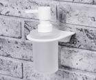 Дозатор для жидкого мыла стеклянный, 170 ml WasserKRAFT Kammel K-8399WHITE