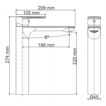 Смеситель для умывальника WasserKRAFT Mindel 8503H