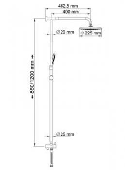 Душевой комплект, 85/120х57,5 см WasserKRAFT A066