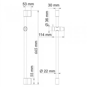 Душевая стойка WasserKRAFT A190