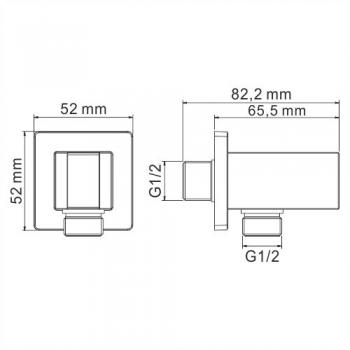 Подключение шланга WasserKRAFT A109