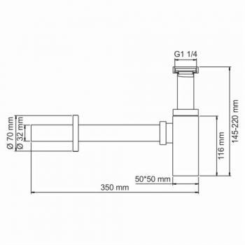 Сифон для раковины WasserKRAFT A096