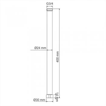 Удлинитель для душевого комплекта WasserKRAFT A210
