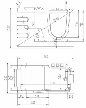 Акриловая ванна ABBER AB9000 C R