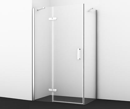 Душевой уголок, прямоугольник, с левой распашной дверью WasserKRAFT Aller 10H07L (1200x900x2000 мм)