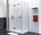 Душевой уголок, прямоугольник, с левой распашной дверью WasserKRAFT Aller 10H10LBLACK (1200x1000x2000 мм)