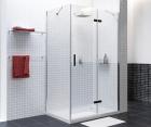 Душевой уголок, прямоугольник, с правой распашной дверью WasserKRAFT Aller 10H10RBLACK (1200x1000x2000 мм)