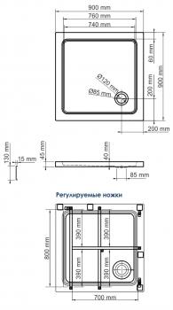 Душевой поддон WasserKRAFT Amper 29T03
