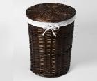 Плетеная корзина для белья с крышкой WasserKRAFT Еlbe WB-740-L