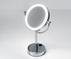 Зеркало с LED-подсветкой двухстороннее, стандартное и с 3-х кратным увеличением WasserKRAFT  K-1005