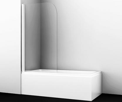 Стеклянная шторка на ванну WasserKRAFT Leine 35P01-80WHITE (800х1400 мм)