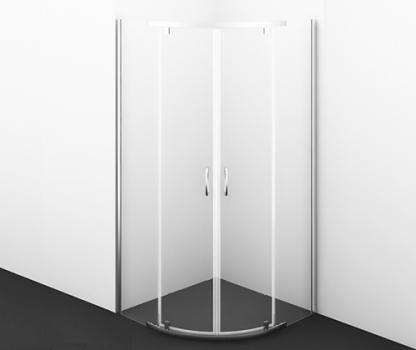 Душевой уголок, сектор, с распашными дверьми WasserKRAFT Leine 35P01 (900х900х2000 мм)