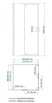 Душевой уголок, квадрат, с распашными дверьми WasserKRAFT Leine 35P03 (900x900x2000 мм)