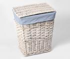Плетеная корзина для белья с крышкой WasserKRAFT Lippe WB-450-M